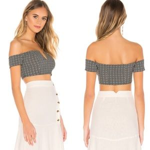 Free People Lucky Now Off Shoulder Crop Top Large